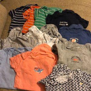 12 month Carters onesie lot